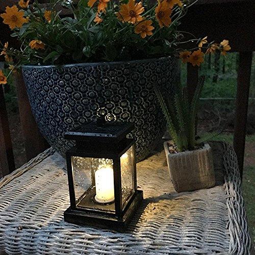 Solarlaterne für Außen Led Laterne Solar mit Kerzen Lichteffekt 1 Stücke Solarlaterne Außenleuchte Wasserdicht Dekoration Lampen für Garten Deko Terassen deko Haus Wand Weg Auffahrt Rasen etc