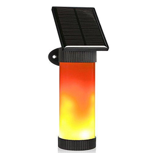 Solarleuchten Flamme Solar Fackel Garten Deko 102 LEDs mit 3 Modus IP65 Wasserdichtes Lichtsensor Stimmungslicht Beleuchtung Solar Laterne LED Dekoration Lampe für Garten Zaun Wege Bank