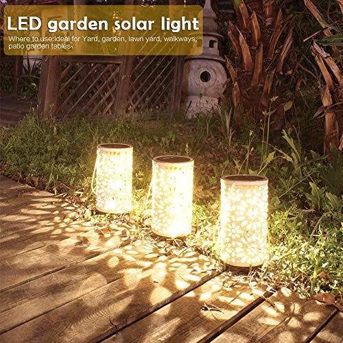 Solar Garten Warmweiß Wasserdicht Wasserdicht Garten Dekoration Windlicht Nachtlicht Garten Garten Garten Rasen Lichter