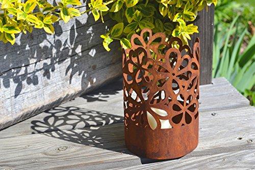Unbekannt Windlicht Hippie inkl Kerze Rost Edelrost Metall Rostfigur Deko Dekoration Deko-Idee Dekowindlicht Rostdeko Gartendeko Geschenk-Idee Geschenk
