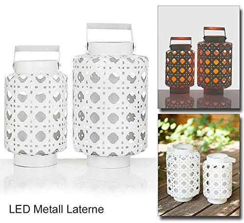 2er Set Laternen mit LED Beleuchtung 27 30 cm Höhe hängende Laternen mit integrierter LED Kerze Außenbeleuchtung für Garten Balkon und Terrasse