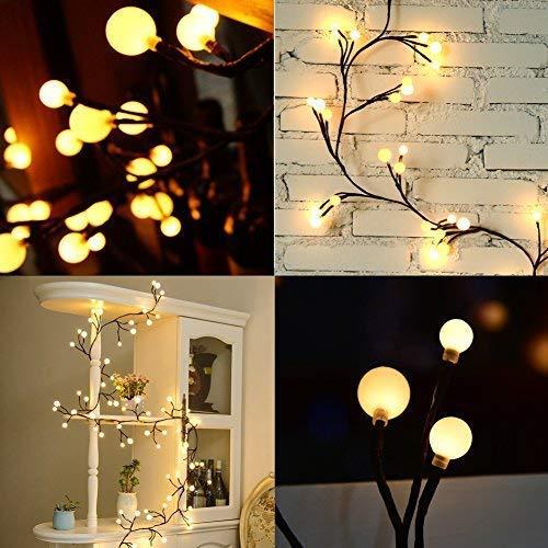 Lichterkette LED 25M Globe Lichterkette Warmweiß Wunderschöne mit 8 Modes Niederspannung Sicherheit geeignet für Innen und im Freien Garden Commercial Dekoration Lichter für Party Weihnachten Hochzei