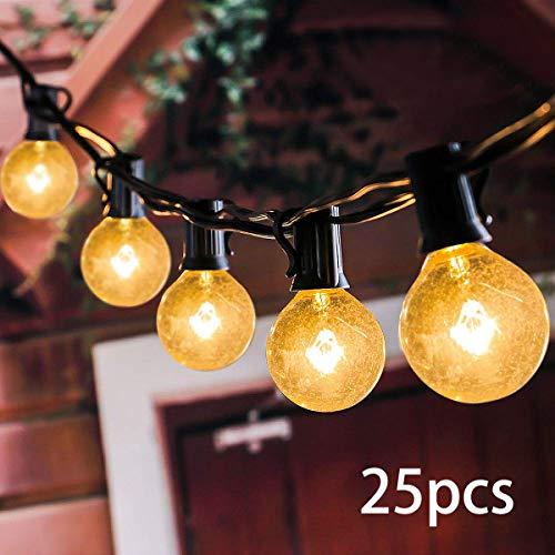 VIFLYKOO Lichterkette AußenLichterkette Glühbirnen G40 Wasserdichte Innen und Außen Beleuchtung mit 95 Meter 28 Garten Lichterketten Dekoration für Garten HochzeitGrill Weihnachten