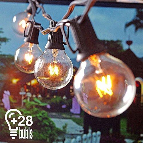 Heofean Lichterkette G40 Außen Deko String Glühbirnen Listed Wasserdichte String Lights Für Indoor Outdoor Decor Hochzeitslicht 25ft Europa-Stardard 25 Glühbirnen  3 Ersatzglühlampen