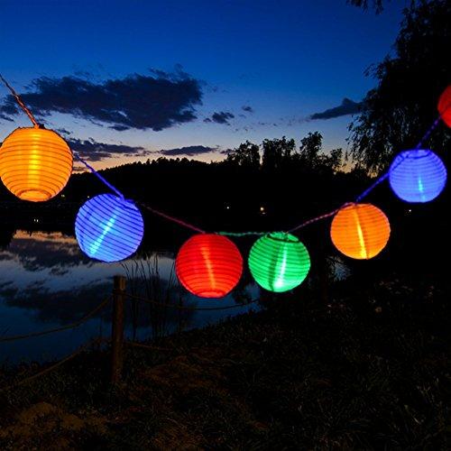 Kitlit 20 LED Lichterkette Bunt Lampions für Party Garten Weihnachten Halloween Hochzeit Beleuchtung Energieklasse A