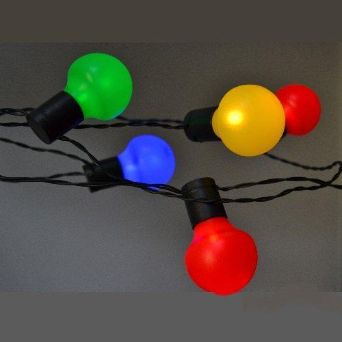LED Party-Lichterkette 20er mit 20 Kugeln bunt für innen und außen