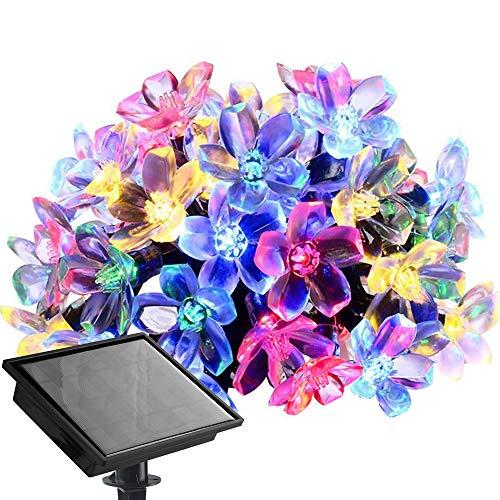 Solar Lichterkette LED Blüte Solarleuchte 23 Meter 200er Bunt Außenlichterkette Wasserdicht Beleuchtung für Weihnachten Hochzeit Garten Außen Deko usw
