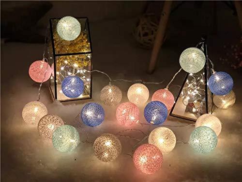 LED Lichterkette batterie lichterkette outdoor indoor lichterkette kugeln-LED Lichterkette Weihnachten mit Batterie für Hochzeit Party Garten Dekorationen 6farben 82ft25m