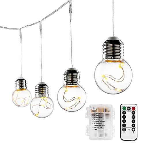 LE 10 Birne Lichterkette Batteriebetrieben 45w Kugel Kupferdraht Lichterkette LED Beleuchtung für Deko Party Weihnachten Warmweiß