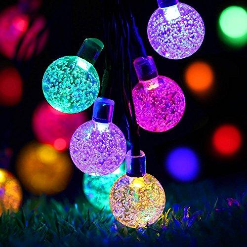 Solar Lichterkette Außen mit 40 Led Kupeln TryLight 75m Bunt LED lichterketten Wasserdicht Weihnachtsbeleuchtung für Garten Party BäumeHalloween