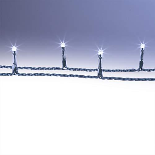 CLGarden LED Außenlichterkette 20 Meter 200 LEDs kaltweiß Lichterkette