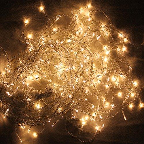 HG 20m 600 LED Eiszapfen Lichterkette Außenlichterkette Warmweiß Wasserdicht für Weihnachten Halloween Geburtstag außen
