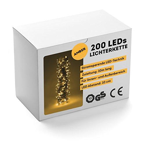 SnowEra 200 LED Außenlichterkette amber