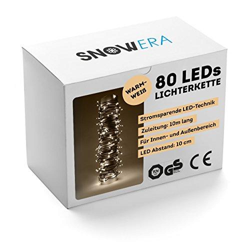 SnowEra 80-er LED Außenlichterkette GS geprüft warmweiß