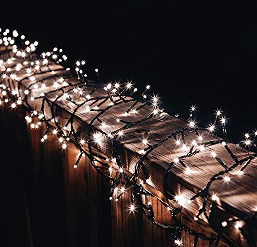 1000er Led Cluster Lichterkette 20 M Strombetrieb Deko für Innen Außen Garten Party Hochzeit gresonic Warmweiss 1000 LED