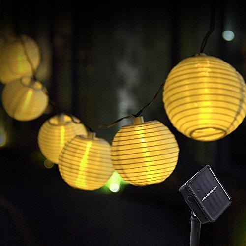 Innoo Tech Solar Lichterkette Lampions 20er LED Garten Außen Innen Wasserfest 33 Meter Warmweiß Solar Beleuchtung für Party Terrasse Hof Haus Outdoor Fest Deko usw …