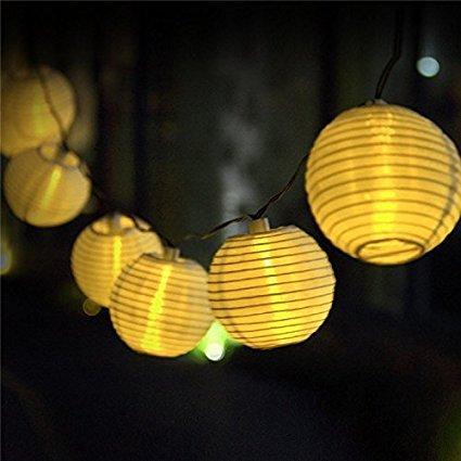 Uping Solar Lichterkette 30er led Lampion Laterne für Party Garten Weihnachten Halloween Hochzeit Beleuchtung Deko in Innen und Außenbereich usw Wasserdicht 6M warm white