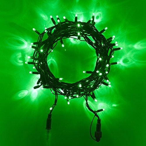 240er LED Lichterkette grün koppelbar Innen Außen Grünes Kabel 24m Typ CC