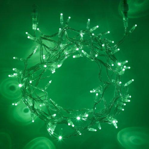 400er LED Lichterkette grün koppelbar Innen Außen 40m transparentes Kabel Typ CC