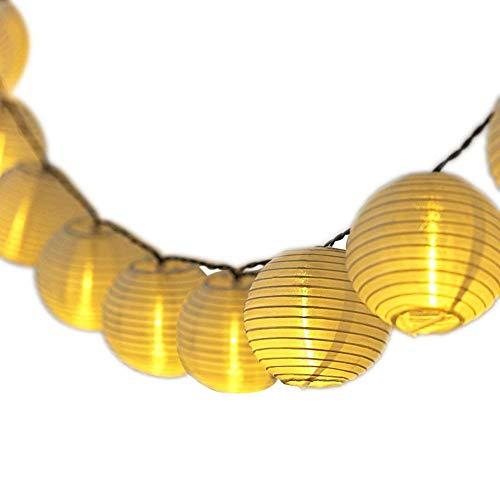 DeepDream Solar Lichterkette Aussen Warmweiss 30LEDs LampionLaternen IP65 WasserdichteDeko für Garten Weihnachten Party Hochzeit Energieklasse A