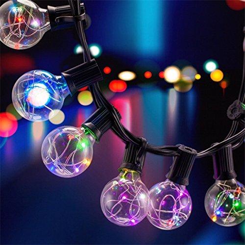 31 LED Lichterkette Glühbirne B-right G40 Lichterkette strombetrieben Innen und Außen Lichterkette Lichterkette bunt rgb 155 leds Weihnachtsbeleuchtung für Balkon Weihnachten Hochzeit Party