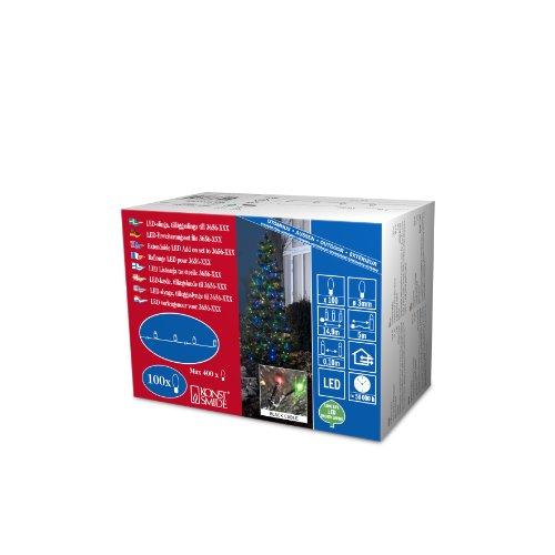 Konstsmide 3657-500 Micro LED Kompakt System Erweiterung Lichterkettefür Außen IP44  100 bunte Diodenschwarzes Softkabel