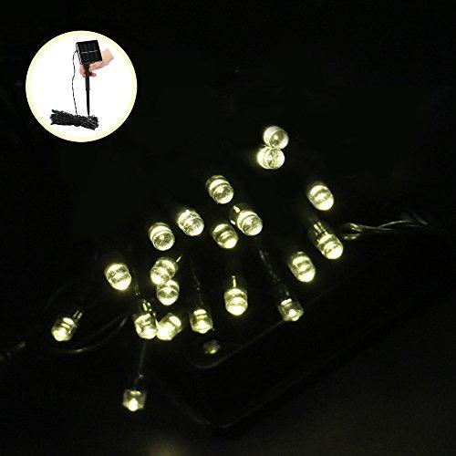 Denknova 2M 20er LED Solar Lichterkette Deko String Licht mit Lichtsensor wasserdicht Warmweiß