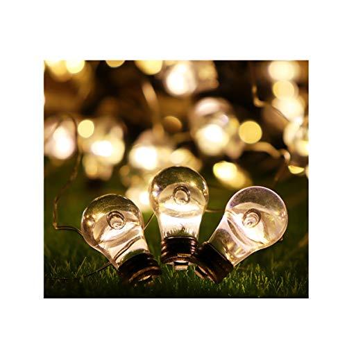 Lichterkette Batterie 20 LED 8 Modi Dimmbar Outdoor Weihnachtslichterkette Batteriebetrieben Warmweiß