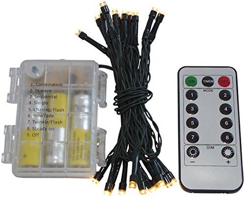 Led Lichterkette Batterie 24 48 96 mit Timer und teilweise mit Fernbedienung grünes Kabel für innen und außen 24er  Fernbedienung