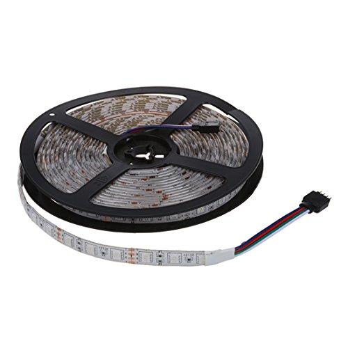 SODIALR 5M 300 5050 SMD LED Lichterkette Licht Strip Leiste RGB Wasserdicht DC 12V