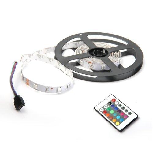 Sonline 2M 60 5050 SMD LED RGB Leiste Strip Band Streif RGB  24 Taste Remote