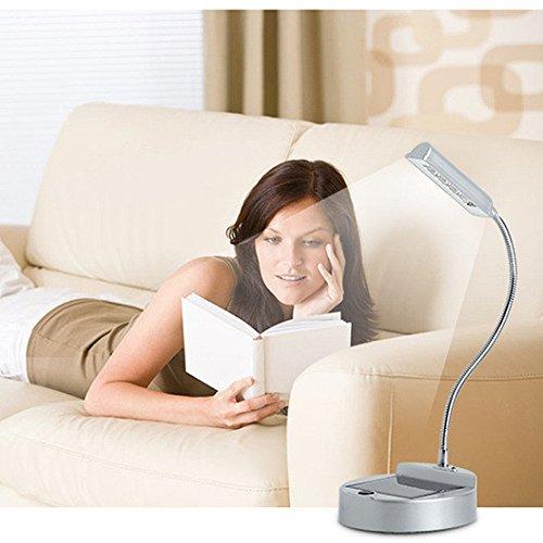 ELINKUME Flexible Gooseneck-Art-LED Mini-Solar-Tischlampe Augenschutz Schreibtischlampe Solar-oder USB aufladbare Lampen Solar-Innenbeleuchtung Lese
