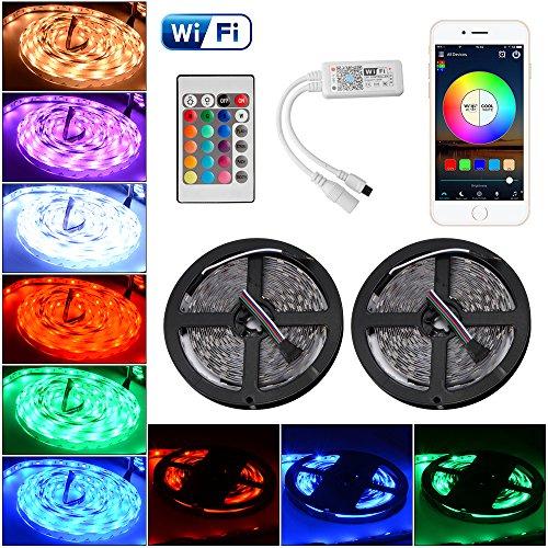 Kreema 2 st¨¹cke 5 Mt WIFI RGBW 5050SMD 300 LED Streifen Licht Smart App Steuerung Flexible Streifen Licht 12 V mit IR Fernbedienung f¨¹r Decke Dekoration