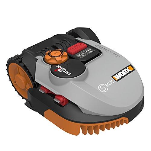 Worx Landroid S-Basic Mähroboter in Grau – Automatischer Rasenmäher für bis zu 300 qm mit AIA Technik für präzise Mäharbeit