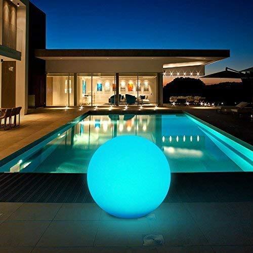 Solarlampen für Außen Solar Kugelleuchten Außen Durchmesser 30cm mit 8 Verstellbarer Farben LED Solar Gartenleuchte Wasserdichte IP67 Leuchtdauer 8 Stunden Kealive