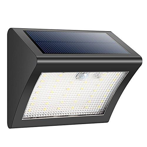 iPosible Solarleuchten Außen Solarlampen Außenleuchte 38 LED Sicherheit Beleuchtung Bewegungsmelder Wandleuchte Wasserdichte 3 Modi Sicherheit Bewegungs Sensor Licht für Garten Patio Hof