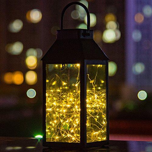 Solar Laterne Tomshine Solar Garten Laterne Dekorative Kupferdraht 30 LED Lichterkette Solarlampen IP44 Wasserdicht für Außen und Innenbereich