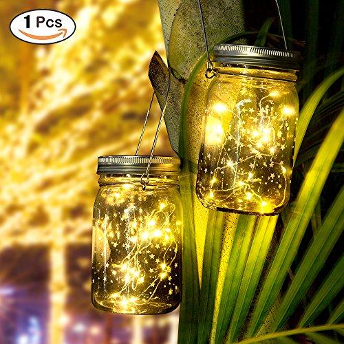 Solar Gartenleuchte - Solarlampen für AußenGartenlicht SolarJar LichtLed Lichterkette Solar AußenDeko Weihnachten InnenAußen Lichterketten für ZimmerTerrasse WeihnachtsbaumHochzeit Warmes