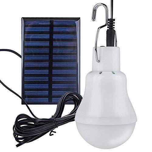 Solar Glühbirne - Beinhome Solarlampe LED Licht Birne 3 W 3 m Ladekabel Solar Panel Beleuchtung für Camping Wandern Angeln Gartenhaus