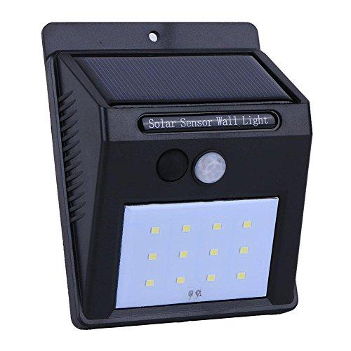 Starnearby Solarleuchten für Außen 12 LED Solar Licht Bewegungssensor Wasserdichte Wand Outdoor Lampe Garten Decor