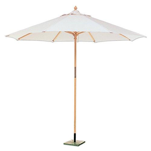 Sonnenschirm sechskantig aus Holz und Baumwolle für Garten und Strand Durchmesser 250 cm