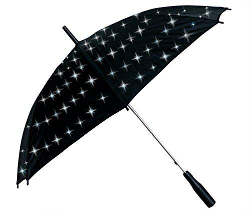 ERRO LED Regenschirm weiß Schirm mit weissen Lichtern Geschenkidee Mitbringsel Lichtschirm ausgefallenes Christmas Präsent