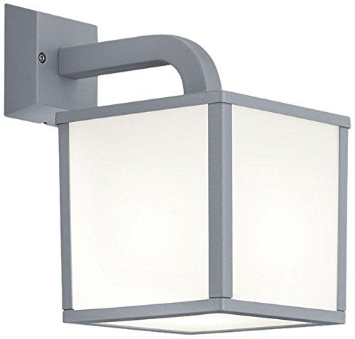 Trio Leuchten LED-Aussen-Wandleuchte Cuganbo Aluminiumguss titanfarbig Schirm Acryl weiß 221560187