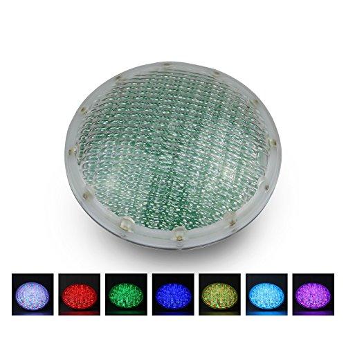 Roleadro Poolbeleuchtung LED Unterwasser mit Fernbedienung 21W RGB Par56 LED Unterwasserlicht12V ACDC IP68 Wasserdicht Poolscheinwerfer Multi Farbwechsel für