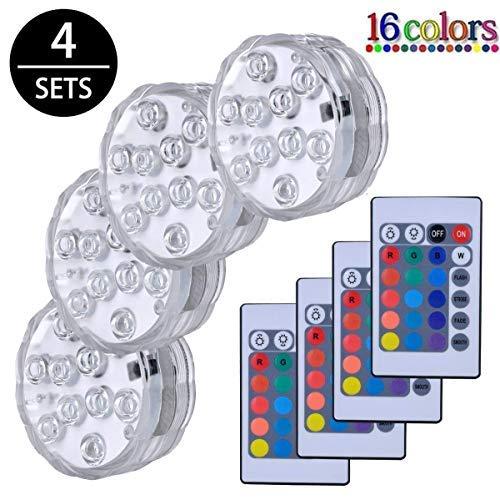 golight Unterwasser LED Licht mit Fernbedienung4 Stück Unterwasser LichtLED FarbwechselLED RGB Multi Farbwechsel LED Leuchten