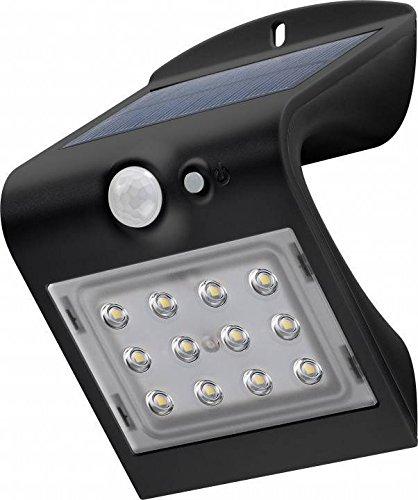 Goobay LED Solar-Wandleuchte mit Bewegungsmelder Glas 15 W Schwarz 15 Watt