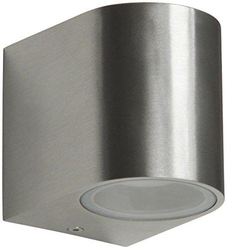 Ranex 5000466 LED Außenwandleuchte GU10 3 Watt halb rund Aluminium-Glas