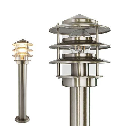 Aussenleuchte Standleuchte Wegeleuchte Standlampe Gartenleuchte Edelstahl E27 249-500