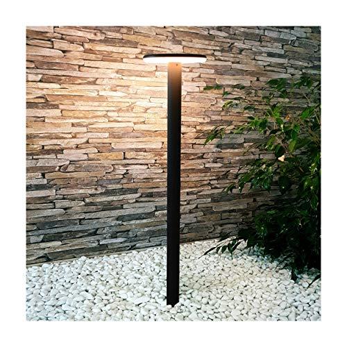 MODERNE LED Standleuchte Pollerleuchte Wegeleuchte 10W - 78cm hoch - warmweiß - schwarz - Wandlampe Wandleuchte Außenlampe Lampe Gartenleuchte 17902