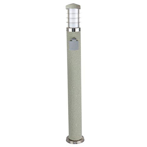 1er Set Stehleuchte Steinoptik rund Außenlampe Wegeleuchte Gartenlampe Lampe 800mm mit Steckdose rund rund